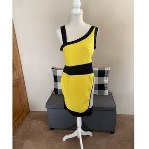 Fashion To Figure Yellow and Black Dress